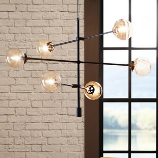 Mid century modern chandeliers youll love wayfair save aloadofball Choice Image