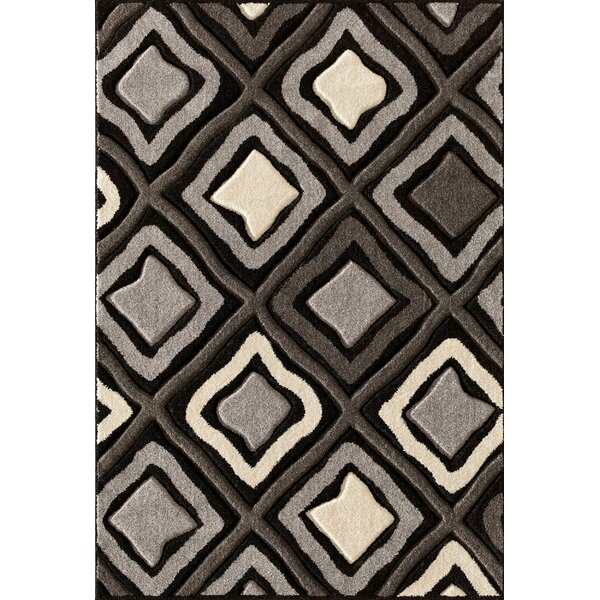 Alford Hand-Woven Black Area Rug by Threadbind