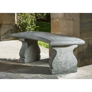 Provencal Cast Stone Garden Bench