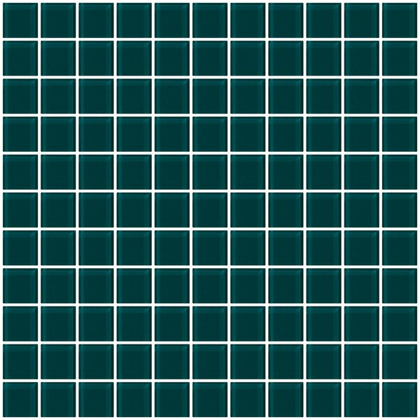 1 x 1 Glass Mosaic Tile in Teal Green by Susan Jablon