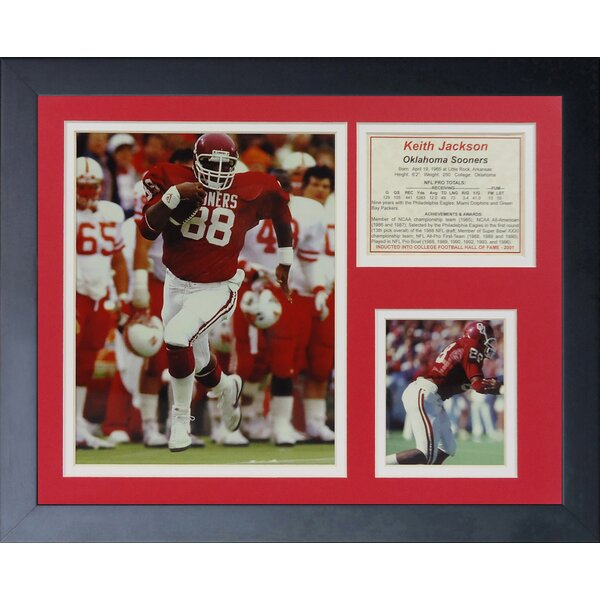 Keith Jackson - Oklahoma Framed Memorabilia by Legends Never Die