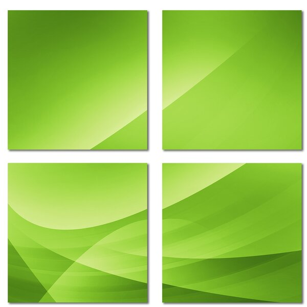 Custom 6 x 6 Beveled Glass Field Tile in Green by Upscale Designs by EMA