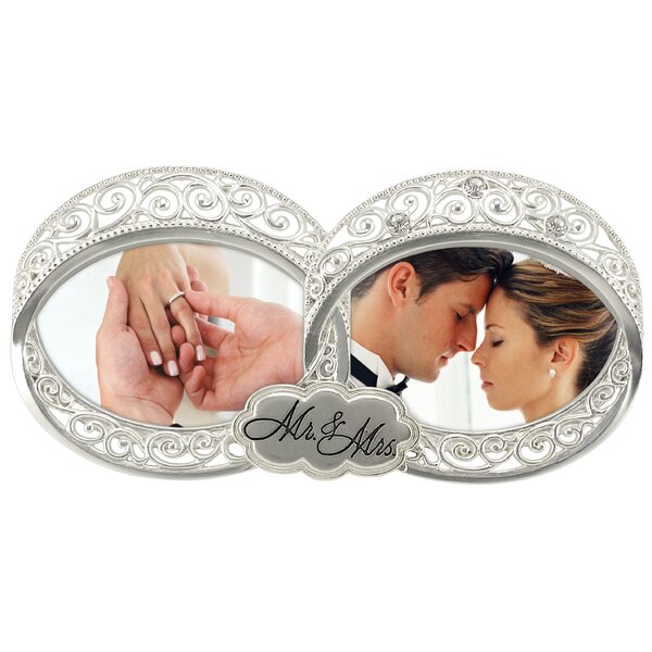 Double Wedding Ring 2-Opening Picture Frame by Malden