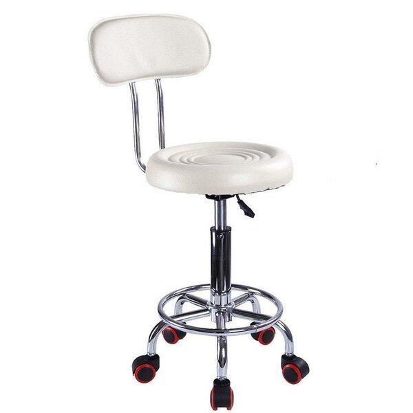 Hydraulic Stripe Backrest Height Adjustable Lab Stool