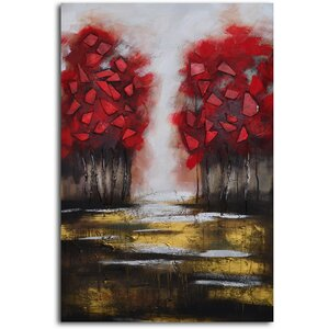 Passion and Fire' Painting on Canvas by Omax Decor