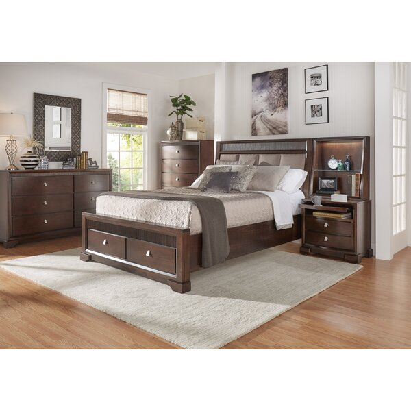Akins Upholstered Platform Configurable Bedroom Set by Three Posts