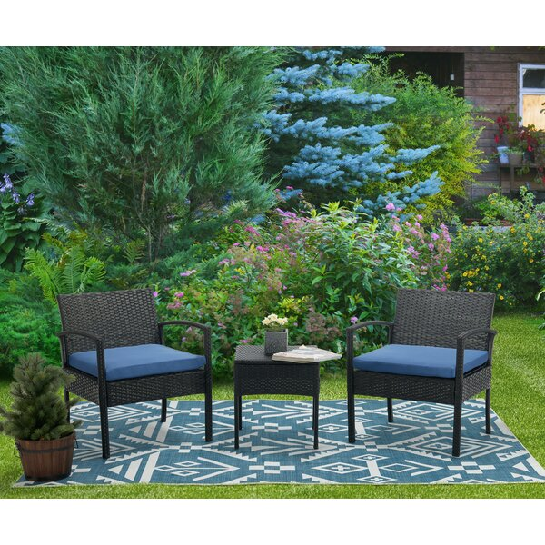 Ayeasha 3 Piece Rattan Seating Group With Cushions By Latitude Run