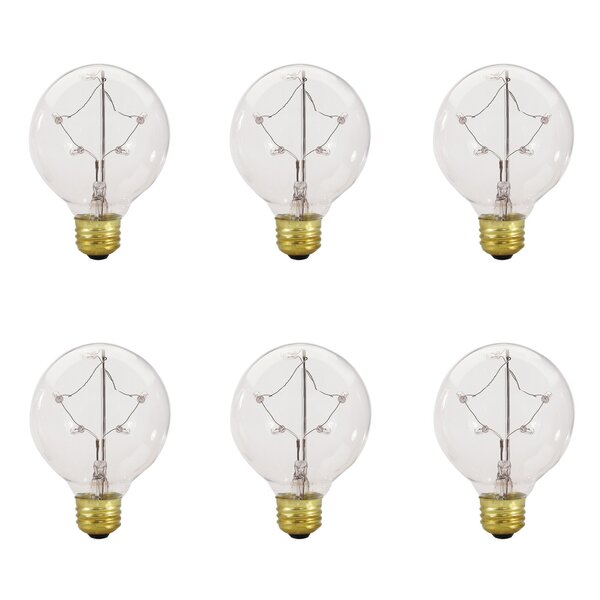 5W E26 Dimmable Incandescent Globe Light Bulb (Set of 6) by Bulbrite Industries