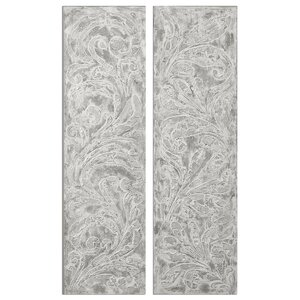 Frost on The Window 2 Piece Painting on Canvas Set by Uttermost