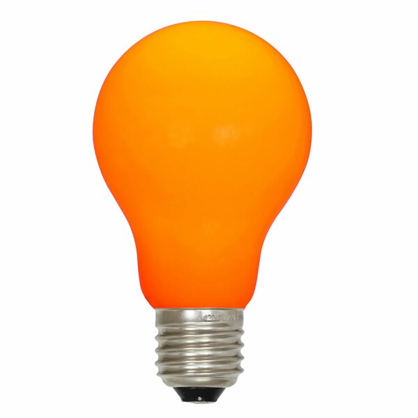 12W Orange E26 LED Light Bulb by Vickerman