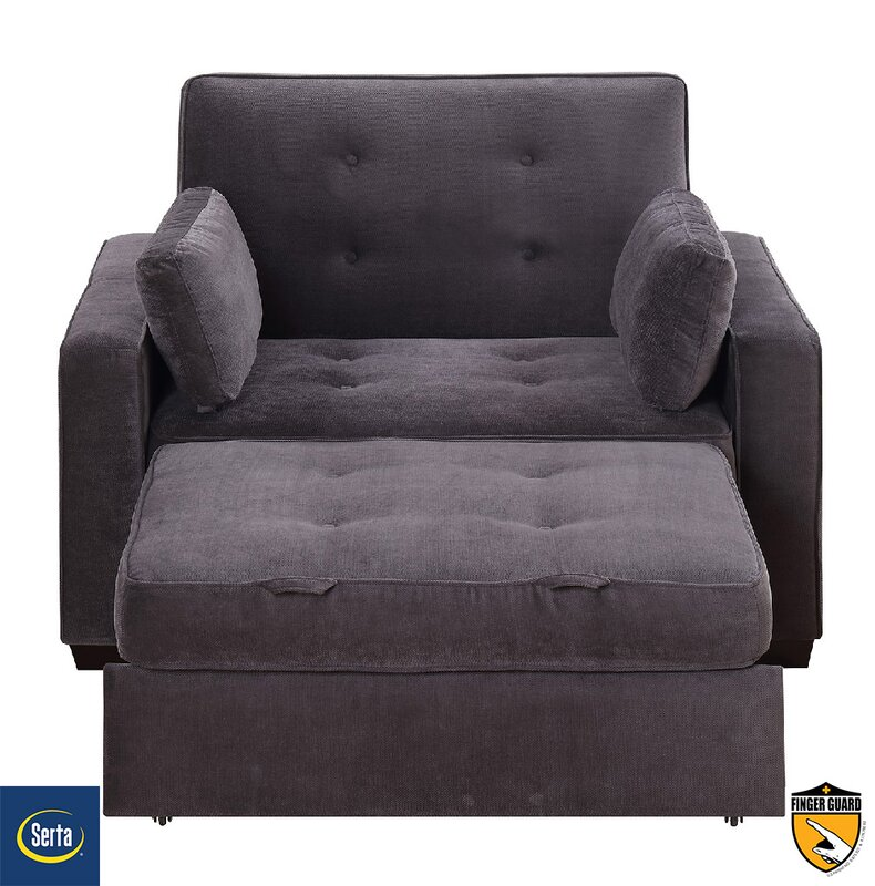 Convertible Futon Chair Bed Amazoncom Dhp Emma Convertible