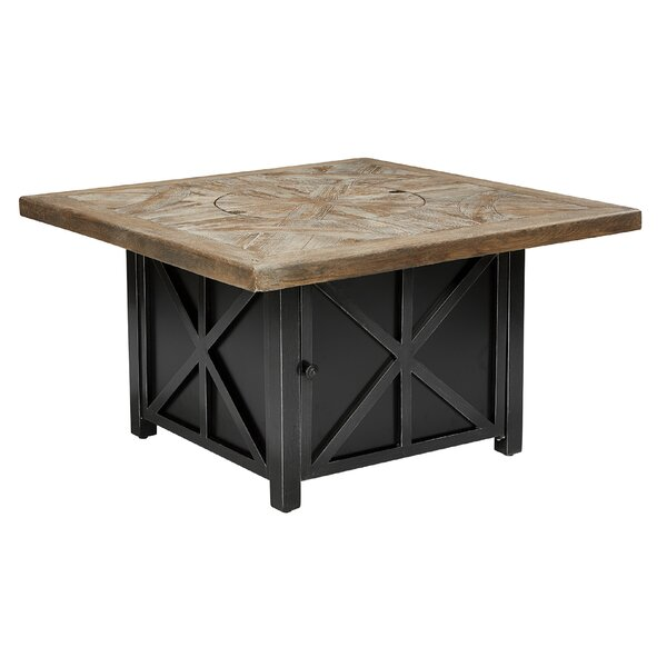 Crenshaw Outdoor Aluminum Gas Fire Pit Table by 17 Stories