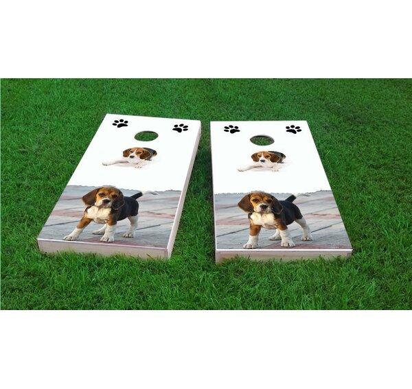 Beagle Lovers Light Weight Cornhole Game Set by Custom Cornhole Boards