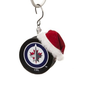 NHL Team Puck Ornament