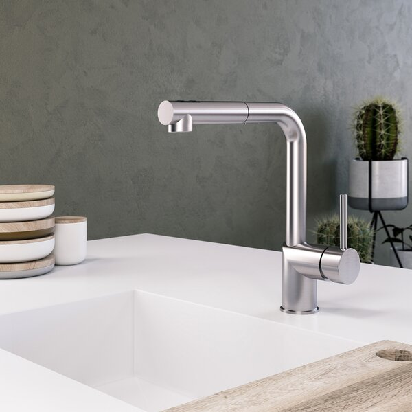 Vitale Pull-down Single Handle Kitchen Faucet by Houzer