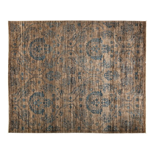 One-of-a-Kind Eclectic Hand-Knotted Brown Area Rug by Darya Rugs