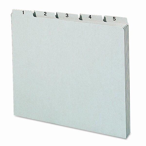 Pressboard Daily Recycled Top Tab File Guides, 31/Set by Smead Manufacturing Company