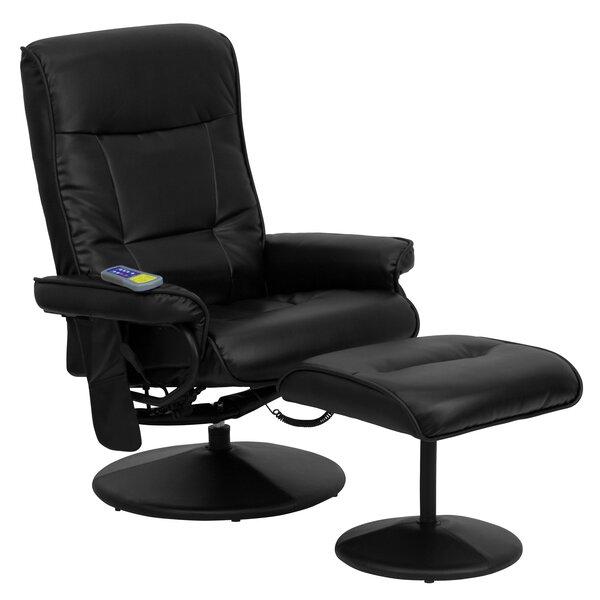 Reclining Heated Massage Chair with Ottoman Red Barrel Studio RDBT5034