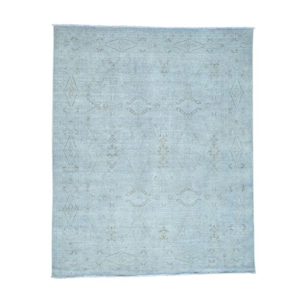 One-of-a-Kind Melodi Hand-Knotted Blue Area Rug by Bungalow Rose