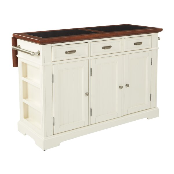 Cintron Large Kitchen Island with Granite Top by August Grove