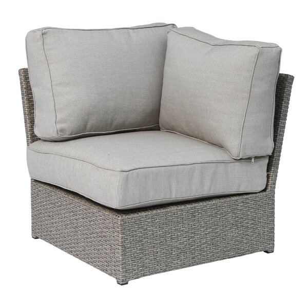 Shick Corner Wedge Patio Chair with Cushions by Orren Ellis