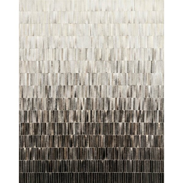 Gradient Cowhide Hand-Woven Gray Area Rug by Modloft