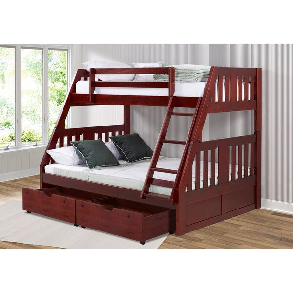 Dubbo Twin Over Full Bunk Bed with Drawer by Harriet Bee