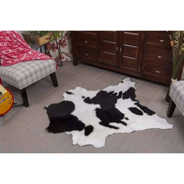 Hand-Woven Black/White Area Rug by Rodeo