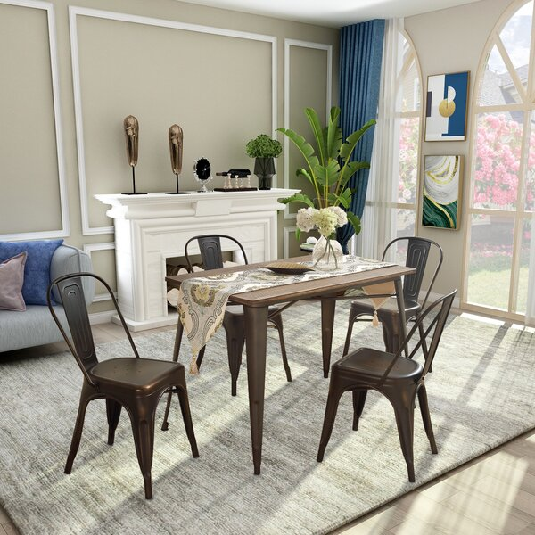 Izora 5 Piece Dining Set by 17 Stories 17 Stories