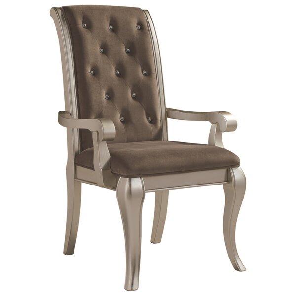 Goldberg Upholstered Dining Chair (Set of 2) by Fleur De Lis Living