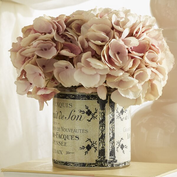 Hydrangea Floral Arrangement in a French Label Pot by Ophelia & Co.