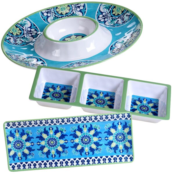 Granada 3 Piece Heavy Weight Melamine Hostess Set by Certified International
