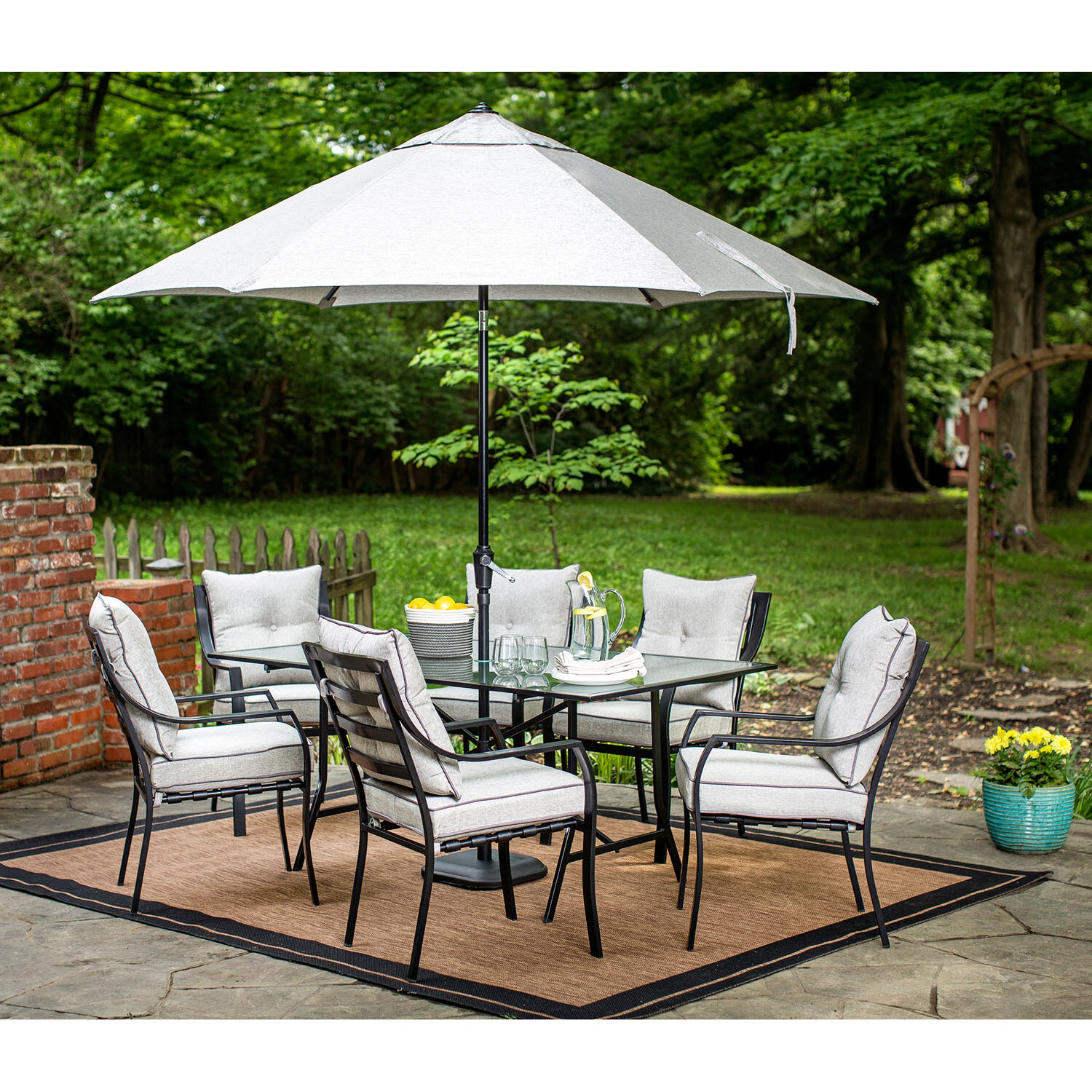Patio Furniture Dining Sets With Umbrella Hanover Brayden Studio