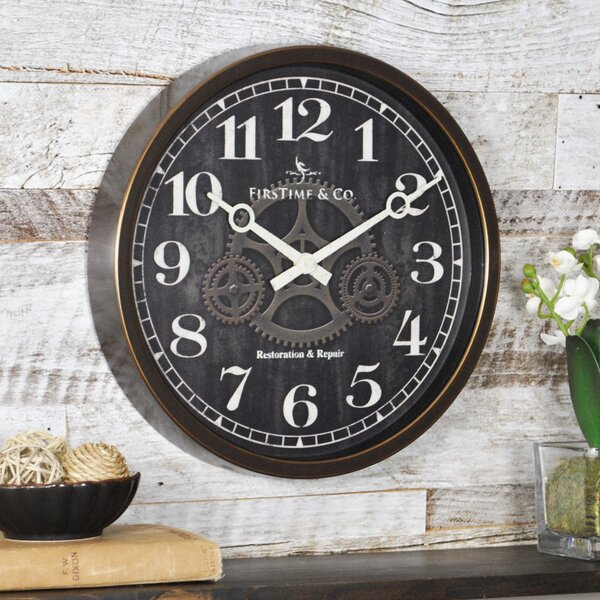 12 Industrial Gears Wall Clock by Trent Austin Design