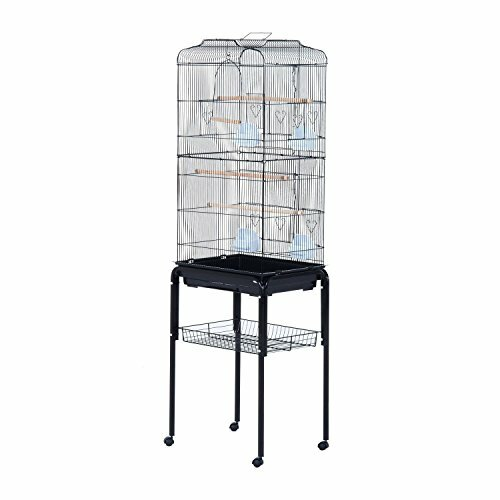 Freelon Indoor Bird Cage Starter Kit Rolling Stand with Caster by Tucker Murphy Pet