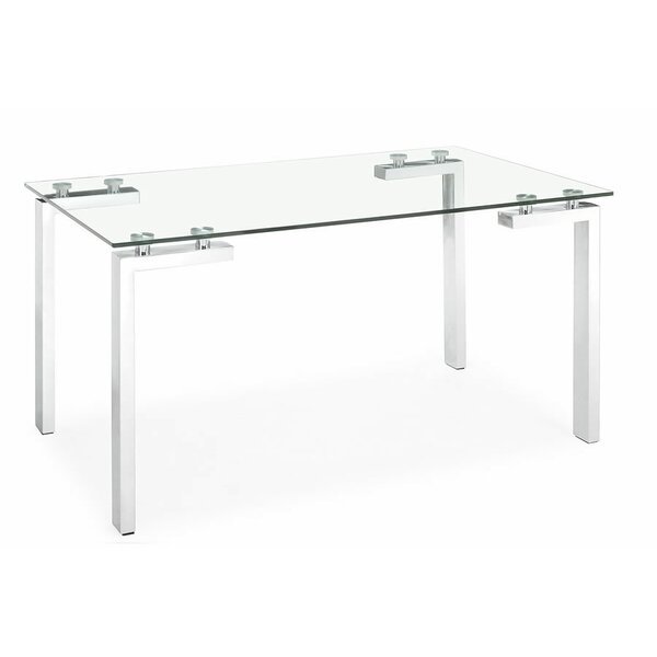 Brinda Glass Dining Table by Orren Ellis