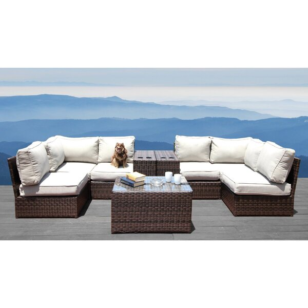 Vasil 9 Piece Sectional Seating Group with Cushions by Orren Ellis