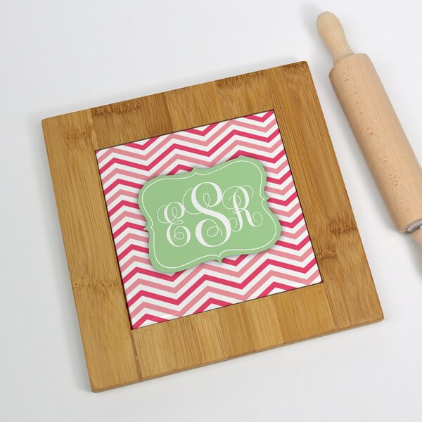 Personalized Monogram Bamboo Trivet by Monogramonline Inc.