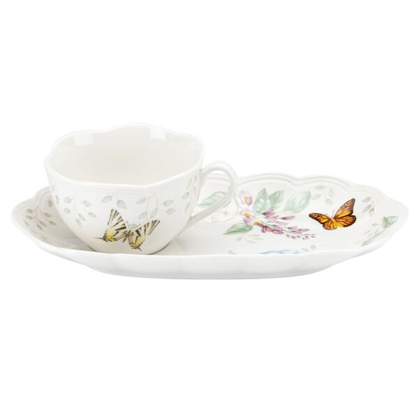 Butterfly Meadow Soup and Sandwich Serving Tray by Lenox