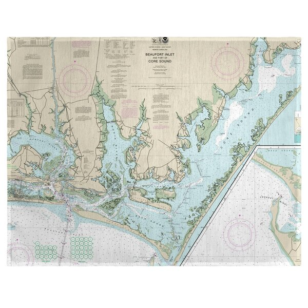 Beaufort Inlet and Part of Core Sound, NC 18 Placemat (Set of 4) by East Urban Home