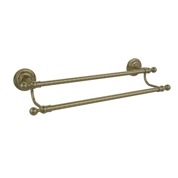 Que New Double Wall Mounted Towel Bar by Allied Brass