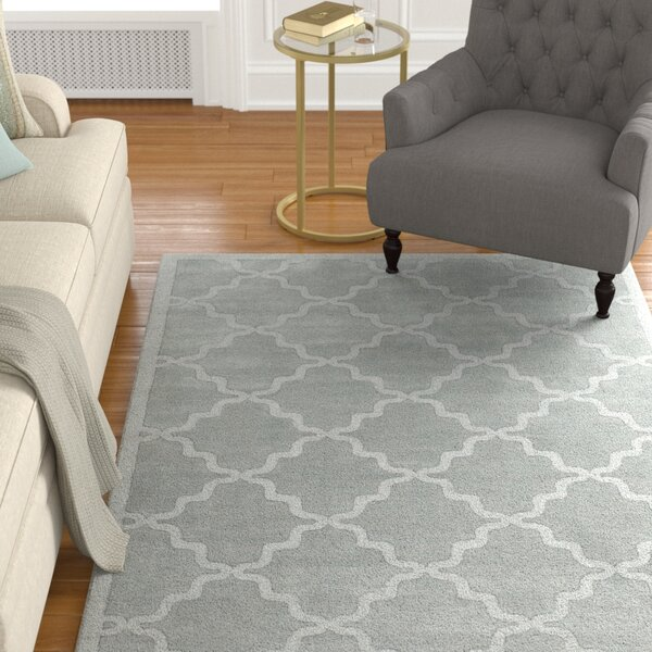 Blankenship Hand Woven Wool Light Blue Area Rug by Charlton Home