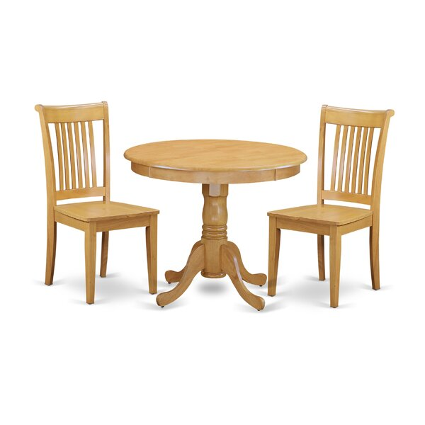 Brendan 3 Piece Breakfast Nook Solid Wood Dining Set by August Grove August Grove