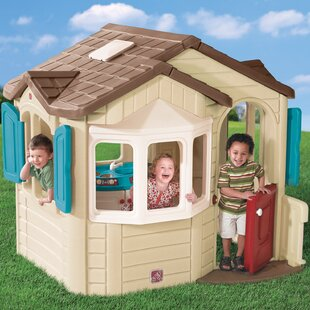Clearance Naturally Playful Welcome Home 6.08' x 5.5' Playhouse ByStep2