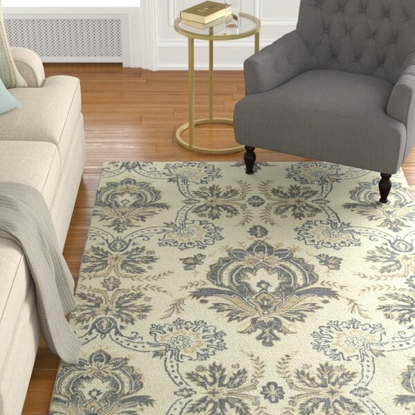 Mariemont Hand-Tufted Ivory Area Rug by Alcott Hill