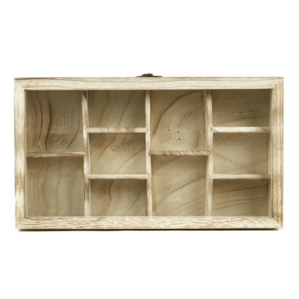 Jaclyn Wooden Hanging Display Wall Shelf by Millwood Pines