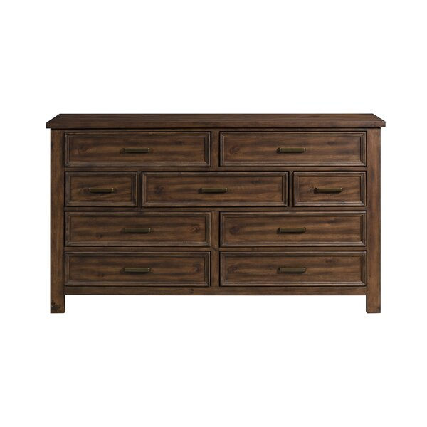 Devers 9 Drawer Double Dresser by Millwood Pines