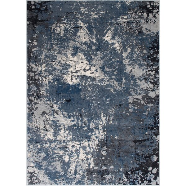 Fayanna Abstract Style Gray/Blue Area Rug by 17 Stories