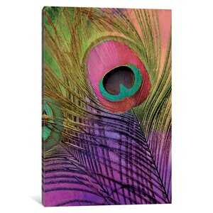 Peacock Candy III Graphic Art on Wrapped Canvas by East Urban Home