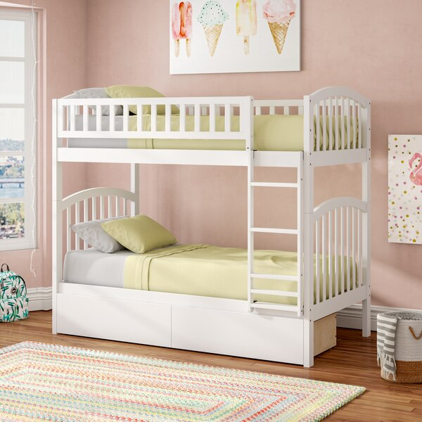 Jackie Twin Over Twin Bunk Bed With Drawers By Viv + Rae by Viv + Rae Amazing